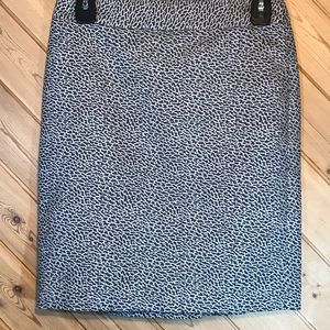 Women's Loft Animal Print Skirt, Size 0 EUC